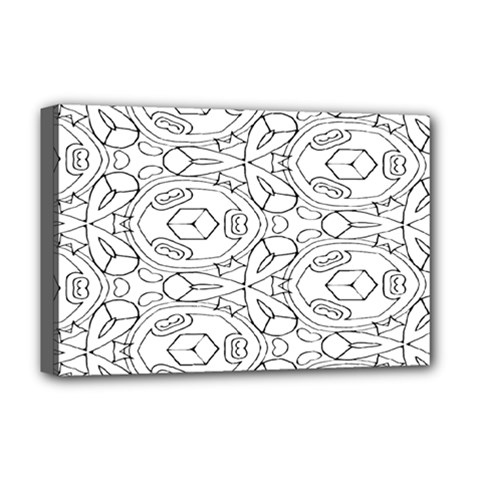 Pattern Silly Coloring Page Cool Deluxe Canvas 18  X 12