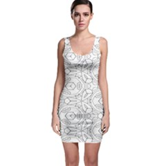 Pattern Silly Coloring Page Cool Sleeveless Bodycon Dress