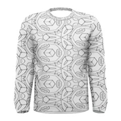Pattern Silly Coloring Page Cool Men s Long Sleeve Tee