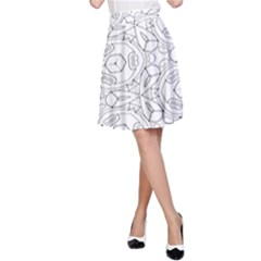 Pattern Silly Coloring Page Cool A Line Skirt