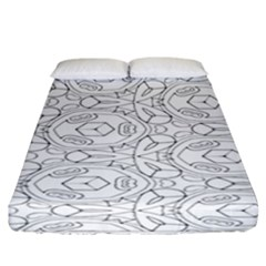 Pattern Silly Coloring Page Cool Fitted Sheet (california King Size)