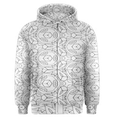 Pattern Silly Coloring Page Cool Men s Zipper Hoodie