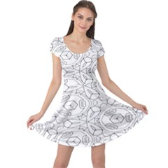 Pattern Silly Coloring Page Cool Cap Sleeve Dresses