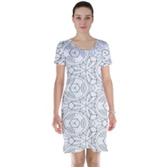 Pattern Silly Coloring Page Cool Short Sleeve Nightdress