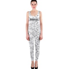 Pattern Silly Coloring Page Cool Onepiece Catsuit