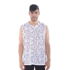 Pattern Silly Coloring Page Cool Men s Basketball Tank Top