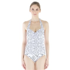 Pattern Silly Coloring Page Cool Halter Swimsuit