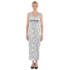 Pattern Silly Coloring Page Cool Fitted Maxi Dress