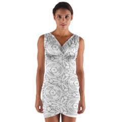 Pattern Silly Coloring Page Cool Wrap Front Bodycon Dress