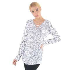 Pattern Silly Coloring Page Cool Women s Tie Up Tee