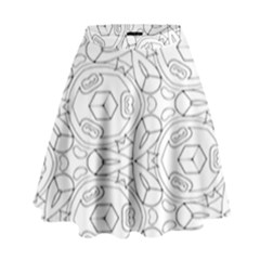 Pattern Silly Coloring Page Cool High Waist Skirt
