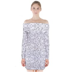 Pattern Silly Coloring Page Cool Long Sleeve Off Shoulder Dress