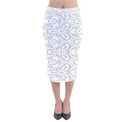 Pattern Silly Coloring Page Cool Velvet Midi Pencil Skirt