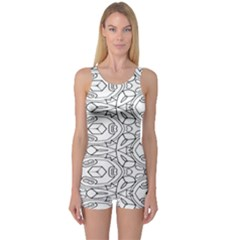 Pattern Silly Coloring Page Cool One Piece Boyleg Swimsuit
