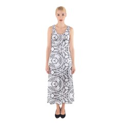 Pattern Silly Coloring Page Cool Sleeveless Maxi Dress