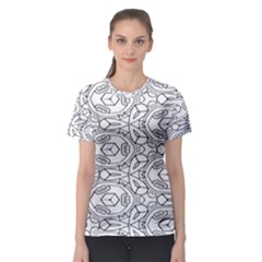 Pattern Silly Coloring Page Cool Women s Sport Mesh Tee