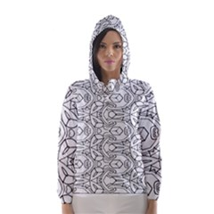 Pattern Silly Coloring Page Cool Hooded Wind Breaker (women)