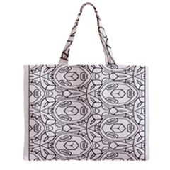 Pattern Silly Coloring Page Cool Zipper Mini Tote Bag