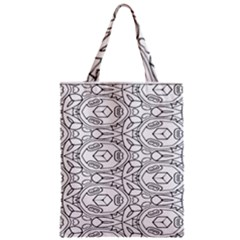 Pattern Silly Coloring Page Cool Zipper Classic Tote Bag