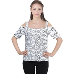 Pattern Silly Coloring Page Cool Women s Cutout Shoulder Tee