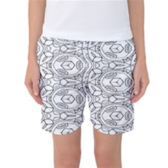 Pattern Silly Coloring Page Cool Women s Basketball Shorts