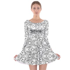 Pattern Silly Coloring Page Cool Long Sleeve Skater Dress