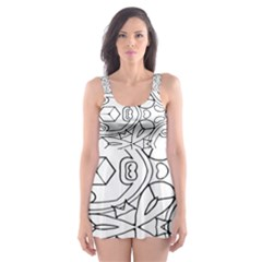 Pattern Silly Coloring Page Cool Skater Dress Swimsuit
