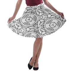 Pattern Silly Coloring Page Cool A Line Skater Skirt