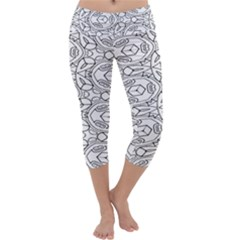 Pattern Silly Coloring Page Cool Capri Yoga Leggings