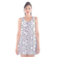 Pattern Silly Coloring Page Cool Scoop Neck Skater Dress