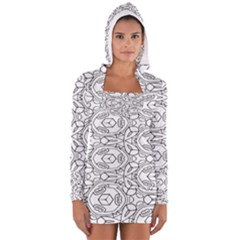 Pattern Silly Coloring Page Cool Women s Long Sleeve Hooded T Shirt