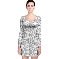 Pattern Silly Coloring Page Cool Long Sleeve Velvet Bodycon Dress