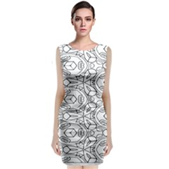 Pattern Silly Coloring Page Cool Classic Sleeveless Midi Dress