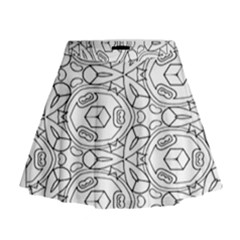 Pattern Silly Coloring Page Cool Mini Flare Skirt