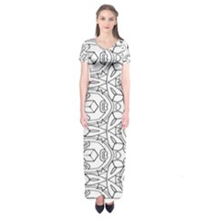 Pattern Silly Coloring Page Cool Short Sleeve Maxi Dress