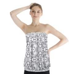 Pattern Silly Coloring Page Cool Strapless Top