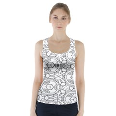 Pattern Silly Coloring Page Cool Racer Back Sports Top