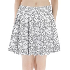Pattern Silly Coloring Page Cool Pleated Mini Skirt