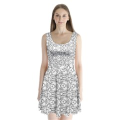 Pattern Silly Coloring Page Cool Split Back Mini Dress