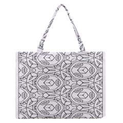 Pattern Silly Coloring Page Cool Medium Zipper Tote Bag