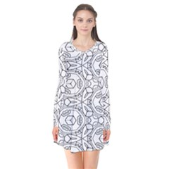 Pattern Silly Coloring Page Cool Flare Dress