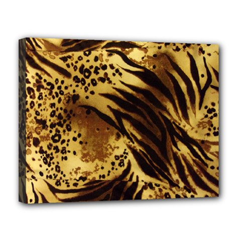 Pattern Tiger Stripes Print Animal Canvas 14  X 11