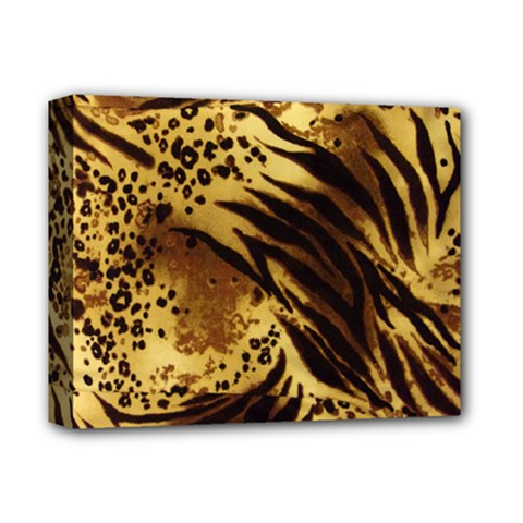 Pattern Tiger Stripes Print Animal Deluxe Canvas 14  X 11