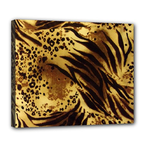 Pattern Tiger Stripes Print Animal Deluxe Canvas 24  X 20