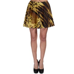 Pattern Tiger Stripes Print Animal Skater Skirt