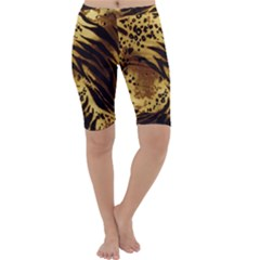 Pattern Tiger Stripes Print Animal Cropped Leggings