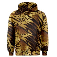 Pattern Tiger Stripes Print Animal Men s Zipper Hoodie