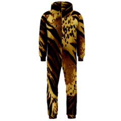 Pattern Tiger Stripes Print Animal Hooded Jumpsuit (men)