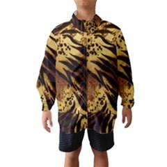 Pattern Tiger Stripes Print Animal Wind Breaker (kids)