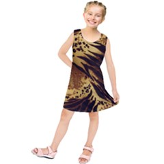 Pattern Tiger Stripes Print Animal Kids  Tunic Dress